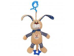 Detská plyšová hračka s hracím strojčekom Baby Mix králiček modrý