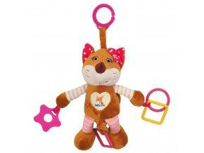 Plyšová hračka s vibráciou Baby Mix líška ružová