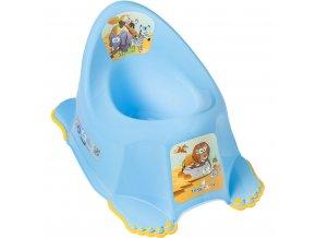 Detský nočník protišmykový Safari modrý