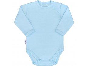 Dojčenské bavlnené body s dlhým rukávom New Baby Pastel modré