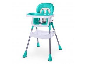 Jedálenská stolička CARETERO Pop turquoise