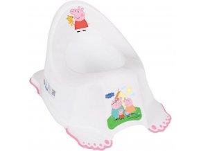 Detský nočník protišmykový Prasiatko Peppa white-pink