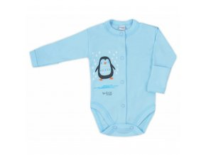 Dojčenské body celorozopínacie Bobas Fashion Mini Baby tyrkysové