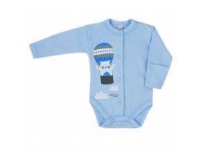 Dojčenské body celorozopínacie Bobas Fashion Mini Baby modré