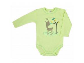 Dojčenské body Bobas Fashion Mini Baby zelené