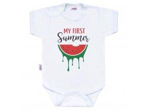 Body s potlačou New Baby My first Summer