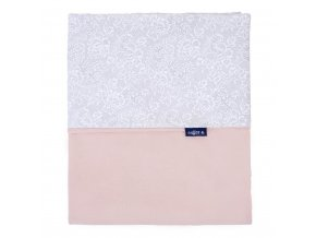Detská obojstranná deka Velvet Womar 75x100 sivo-lososová