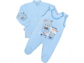 2-dielna súprava New Baby teddy modrá