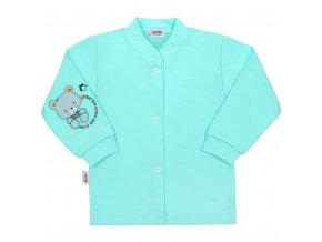 Dojčenský kabátik New Baby teddy tyrkysový