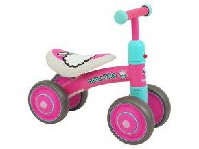 Detské odrážadlo Baby Mix Baby Bike ružové