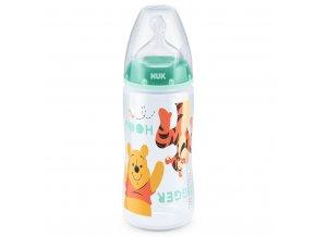 Dojčenská fľaša NUK Medvedík Pú 300 ml zelená