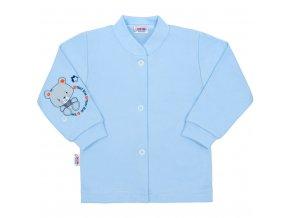 Dojčenský kabátik New Baby teddy modrý