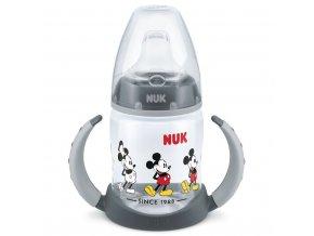 Dojčenská fľaša na učenie NUK Disney Mickey 150 ml sivá