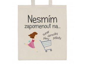 Bavlnená nákupná taška prírodná s potlačou New Baby