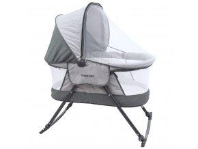 Detská cestovná kolíska postieľka Baby Mix grey