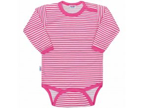 Dojčenské body New Baby Classic II s ružovými pruhmi