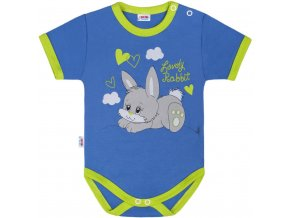 Detské body s krátkym rukávom New Baby Lovely Rabbit