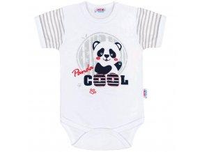 Dojčenské body s krátkym rukávom New Baby Panda