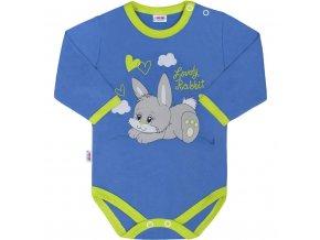 Detské body s dlhým rukávom New Baby Lovely Rabbit