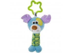 Plyšová hračka s hrkálkou Akuku pejsek