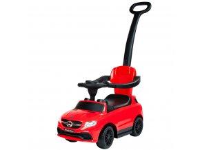 Detské odrážadlo s vodiacou tyčou Mercedes Benz Bayo red