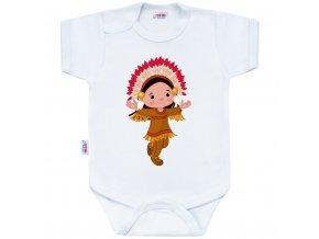 Body s potlačou New Baby Indian Boy