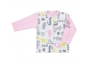 Dojčenský kabátik Koala Animals in ZOO ružový