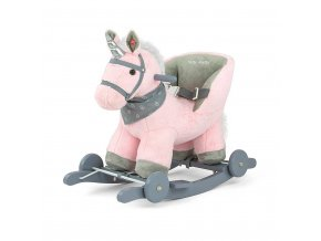 Hojdací koník s melódiou a kolieskami Milly Mally Polly rúžový