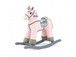 Hojdací koník s melódiou Milly Mally PePe ružový