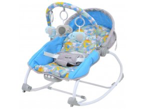 Lehátko pre miminko 2v1 Baby Mix dino grey blue