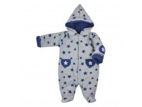 Zimná dojčenská kombinéza Koala Nelly sivo-modrá