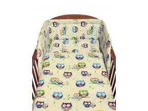2-dielne posteľné obliečky New Baby 90/120 cm béžové sovy modré