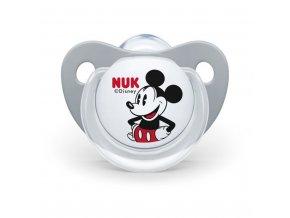 Dojčenský cumlík Trendline NUK Mickey Mouse 6-18m sivý