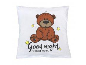 Vankúš s potlačou New Baby Good night 40x40 cm