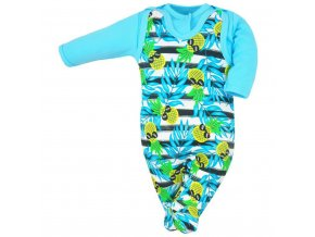 2-dielna bavlnená súprava Koala Tropical modrá