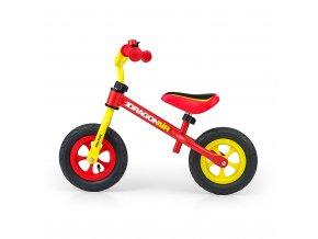 Detské odrážadlo kolo Milly Mally Dragon Air yellow-red