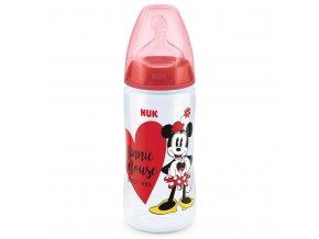 Dojčenská fľaša NUK Disney Mickey 300 ml Minnie červená