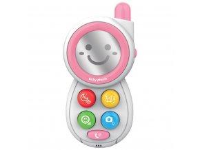 Detská hračka so zvukom Baby Mix Telefónik pink