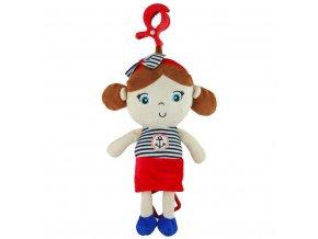 Edukačná hrajúca plyšová bábika Baby Mix námorník dievča