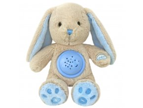 Plyšový zaspávačik zajačik s projektorom Baby Mix modrý