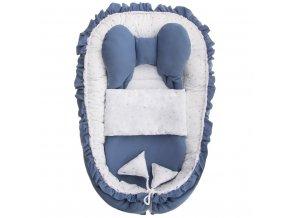 Hniezdočko s perinkou pre bábätko Belisima Angel Baby modré