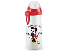 Detská fľaša NUK Sports Cup Disney Mickey 450 ml red