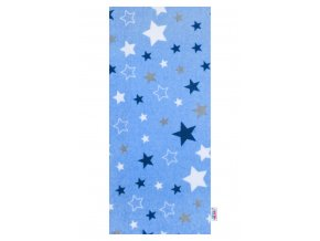 Flanelová plienka s potlačou New Baby modrá hviezdy