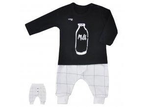 2-dielna dojčenská súpravička Koala MILK čierna