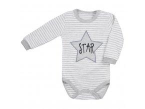 Dojčenské body s dlhým rukávom Koala Star s pruhmi