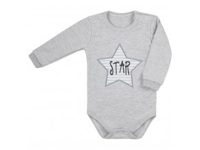 Dojčenské body s dlhým rukávom Koala Star sivé