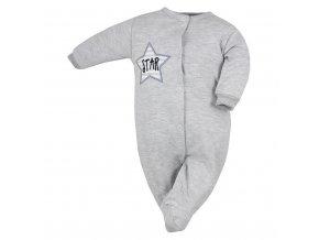 Dojčenský overal Koala Star sivý