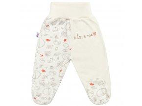 Dojčenské bavlnené polodupačky New Baby Hedgehog béžové