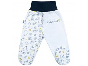 Dojčenské bavlnené polodupačky New Baby Hedgehog modré