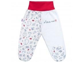 Dojčenské bavlnené polodupačky New Baby Hedgehog červené